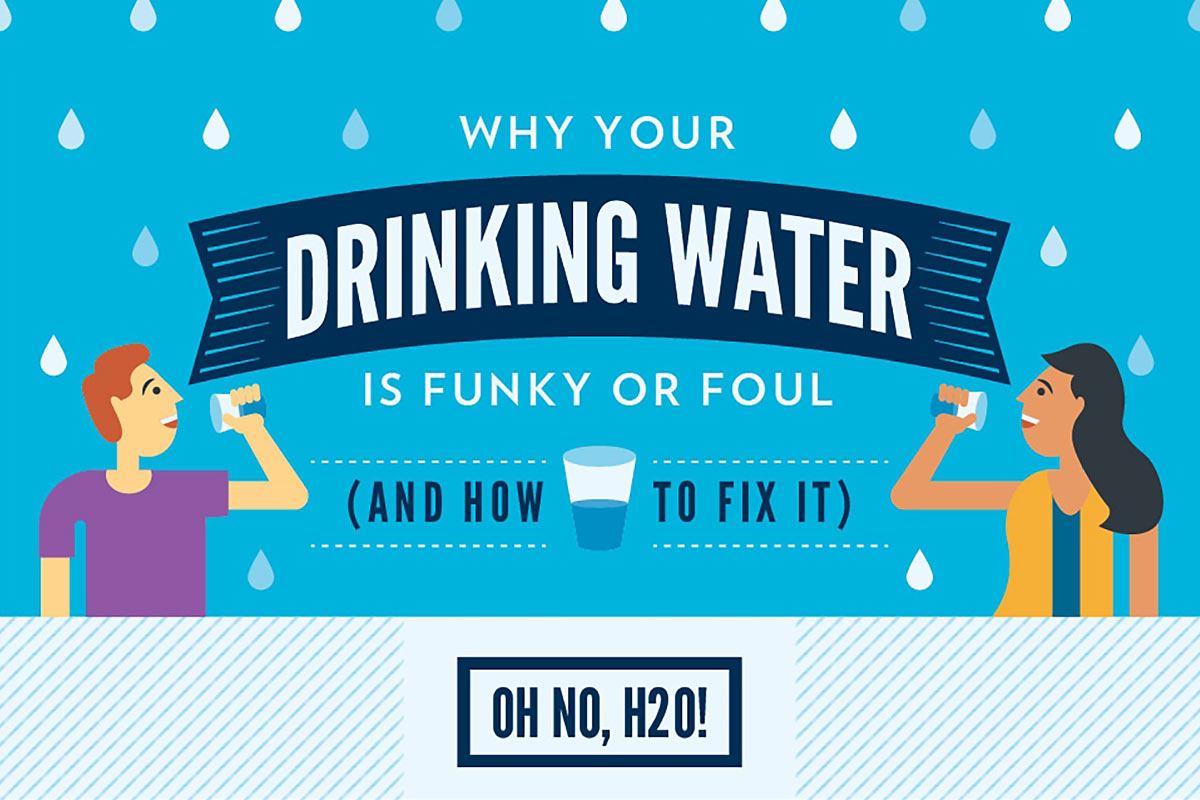 Why your drinking water is funky or foul