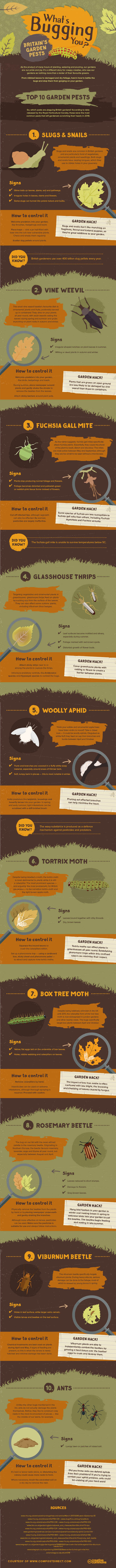 garden peststs infographic
